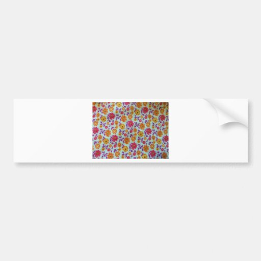 Flower Print Bumper Stickers