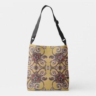 Flower print crossbody bag