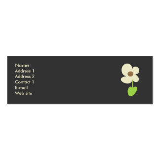 Flower Profile Card - Social Networking Card Pack Of Skinny Business Cards