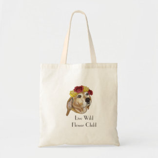 Flower Pup Tote