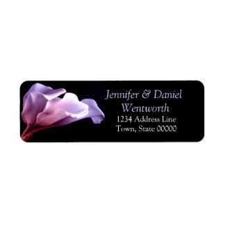 Flower Purple Calla Lilies Floral Classic Stylish Return Address Label