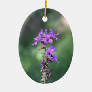 flower_purple.JPG Ceramic Ornament