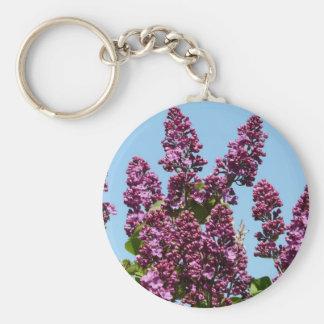 flower,purple lilac keychain
