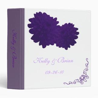 Flower (Purple) Wedding Album or Planner Binder