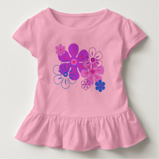 Flower Rain Hawaiian Retro Floral Toddler T-shirt