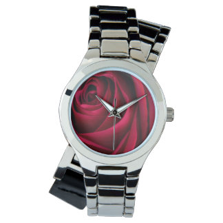 Flower Red Rose Wristwatches