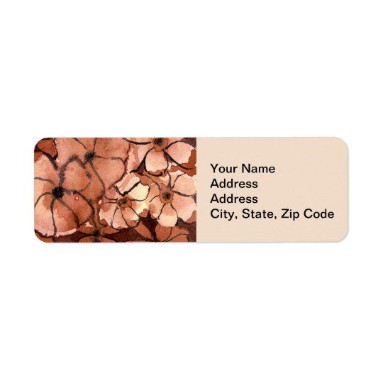 Flower Return Address Label  Freaky Floral Series.