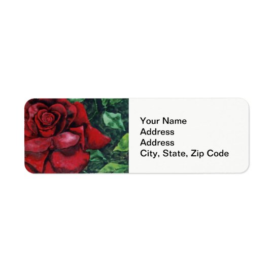 Flower Return Address Label, rose Return Address Label