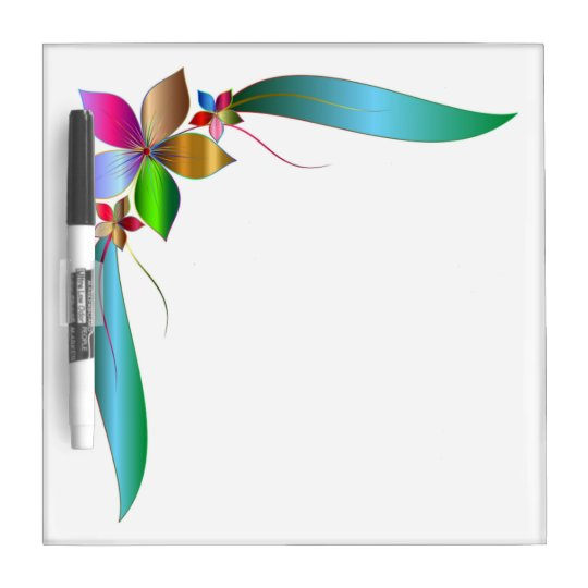 FLOWER RIBBON DRY ERASE BOARDS