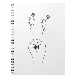 Flower rock note book