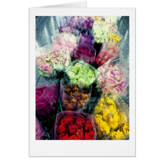 Flower/ Rose Bouquets Floral Blank Card