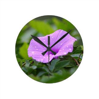 flower round clock