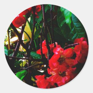 Flower round stiker classic round sticker
