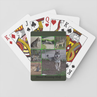 Flower Running Wolf Playing Cards