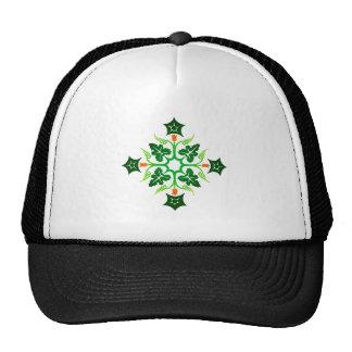 Flower sample floral pattern mesh hat