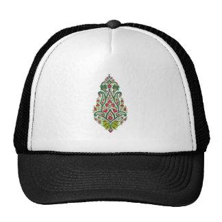 Flower sample floral pattern trucker hats