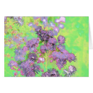 Flower Scapes Mauve Bouquet Greeting Card