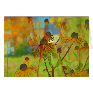 Flower Scapes Rudbeckia Bloom Greeting Card
