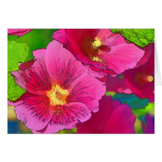 Flower Scapes Shades of Pink Greeting Card