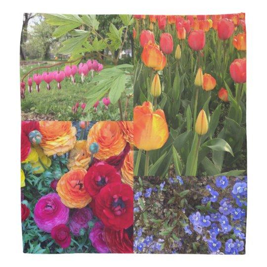 Flower scarf do-rag