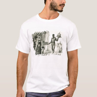 Flower seller outside a church door T-Shirt