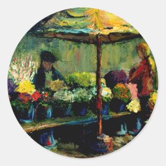Flower Seller Round Sticker