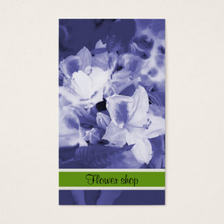Flower shop business card