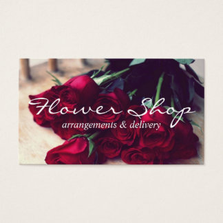 Flower Shop Delivery Florist Business Card