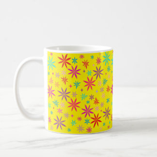 Flower Shower on Yellow Coffee Mug