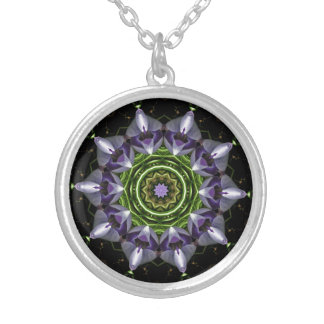 Flower Silver Plated Necklace