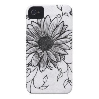 Flower sketch Case-Mate iPhone 4 case