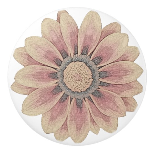 flower sketch knob ceramic knob