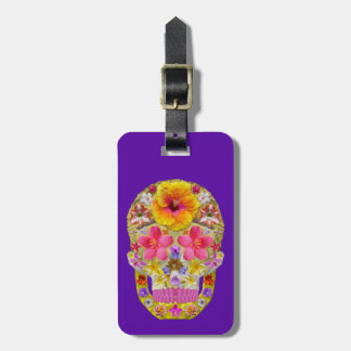 Flower Skull 4 - Tropical Bag Tag