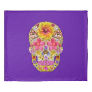 Flower Skull 4 - Tropical Duvet Cover