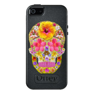 Flower Skull 4 - Tropical OtterBox iPhone 5/5s/SE Case