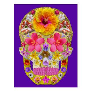 Flower Skull 4 - Tropical Postcard