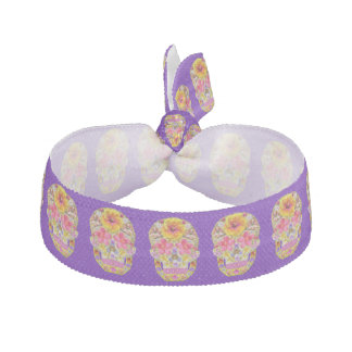 Flower Skull 4 - Tropical Ribbon Hair Tie