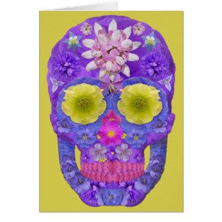 Flower Skull 5 Card