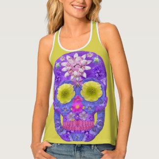 Flower Skull 5 Tank Top