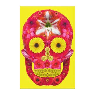 Flower Skull 6 Canvas Print