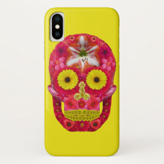 Flower Skull 6 iPhone X Case