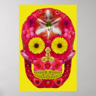 Flower Skull 6 Poster