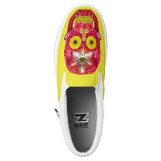 Flower Skull 6 Slip-On Sneakers