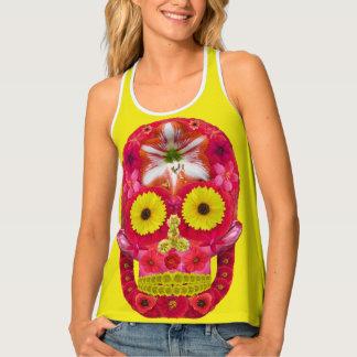 Flower Skull 6 Tank Top