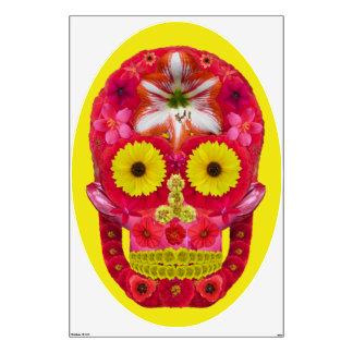 Flower Skull 6 Wall Sticker
