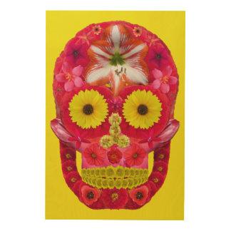 Flower Skull 6 Wood Print