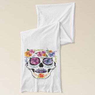 Flower Skull Fashion Scarf