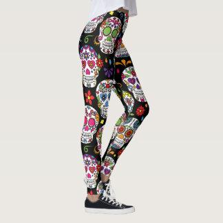 Flower Skull Leggings