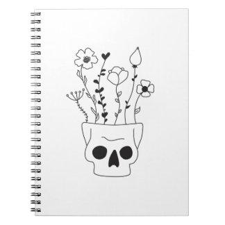 Flower Skull Notebook