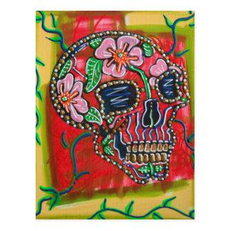 Flower Skull Postcards